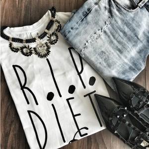 Šaptač cipelama RIP diet majica