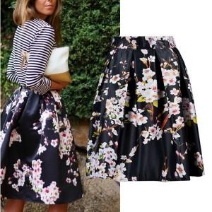 Midi cvjetna suknja