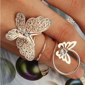 Maxi leptir spiralni prsten