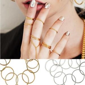 Set 12 komada mini prstenja