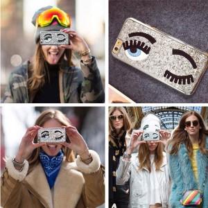 Maska za iPhone šljokaste trepavice