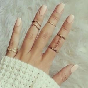 Set od 6 must have prstenova zlatna srebrna