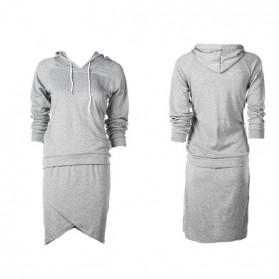 Haljina trenirka u dva dijela suknja + majica s kapuljačom