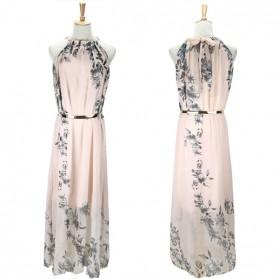 Maxi cvjetna lepršava haljina s remenom