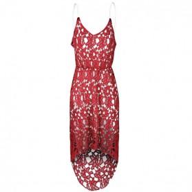 Asimetrična čipkana haljina