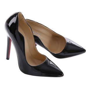 Luksuzne stiletto crne lakirane cipele