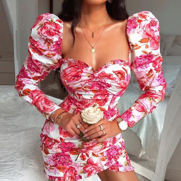 Mini haljina puf rukava na volane *limitirana kolekcija*