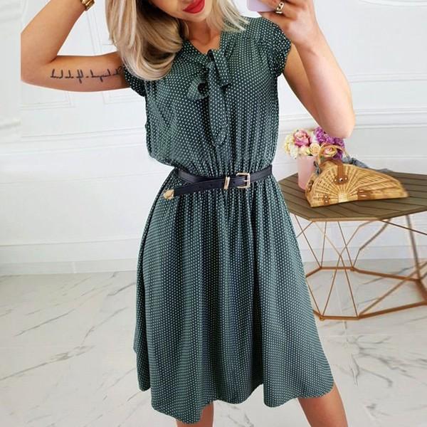 Mini točkasta haljina s mašnom