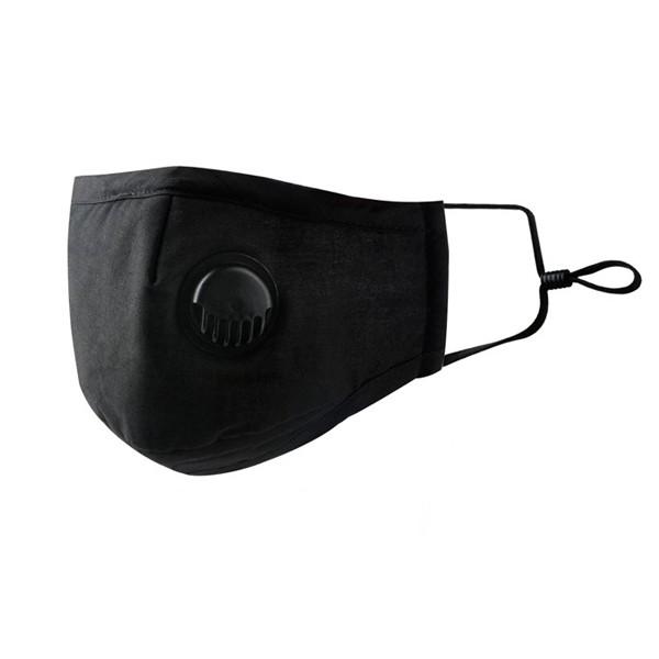 Maska za djecu i odrasle s ventilom crni print