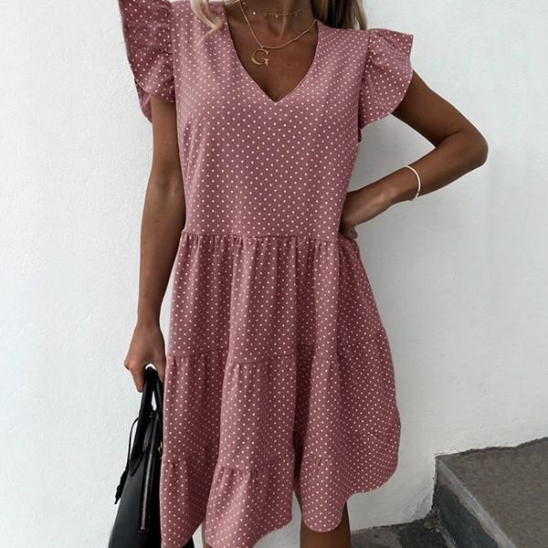 Mini točkasta haljina na volane *limitirana kolekcija*