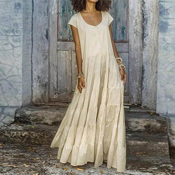 Duga vrećasta haljina dva modela