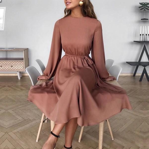 Midi haljina A kroja s remenom *Limitirana kolekcija*