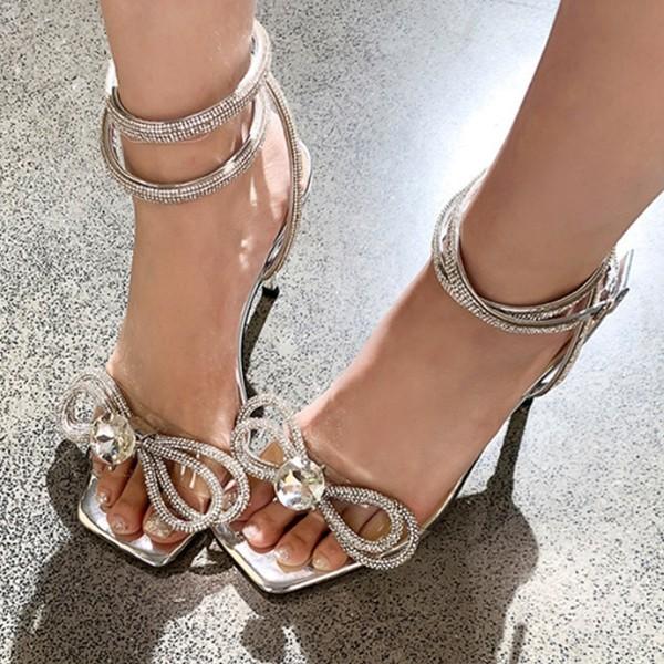 Luksuzne svečane sandale biseri kristali 2 modela