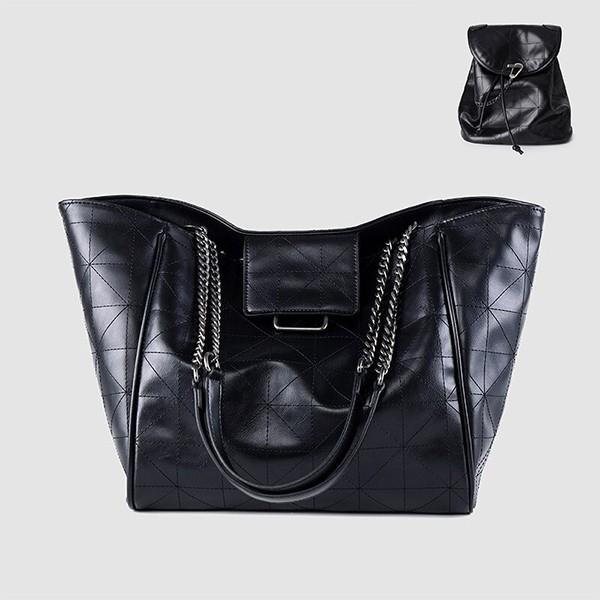 Shopper torba ruksak s dekorativnim lancem