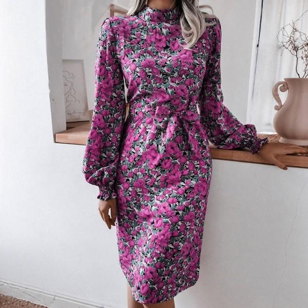 Vintage midi haljina cvjetnog uzorka