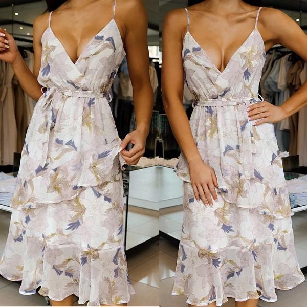 Koktel cvjetna haljina na volane *Limitirana kolekcija*