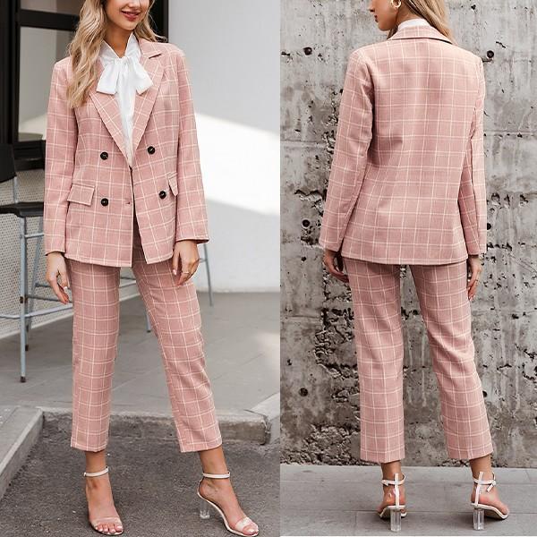 Karirano odijelo blazer + hlače