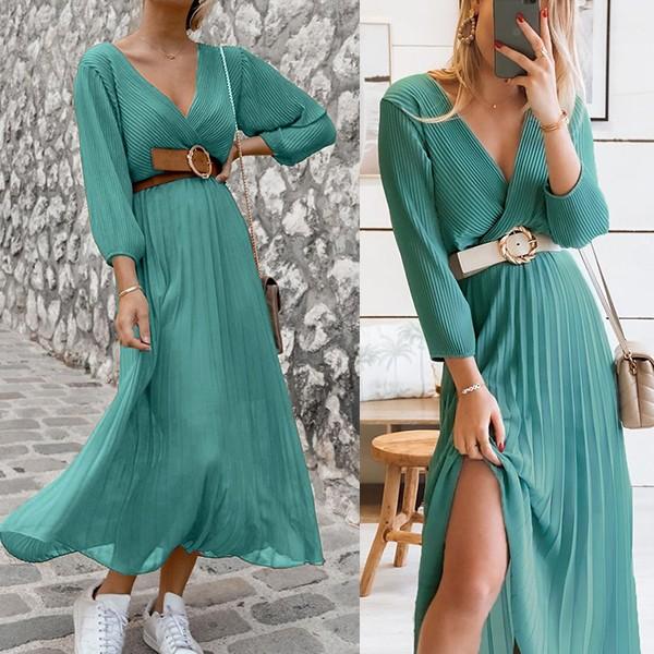 Plisirana haljina preklopnog izgleda *Limitirana kolekcija*