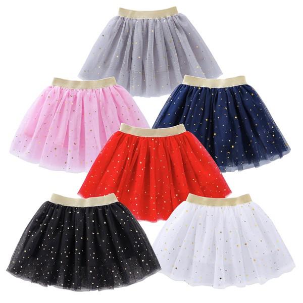 Suknja od tila na zvjezdice za djevojčice 2-10g