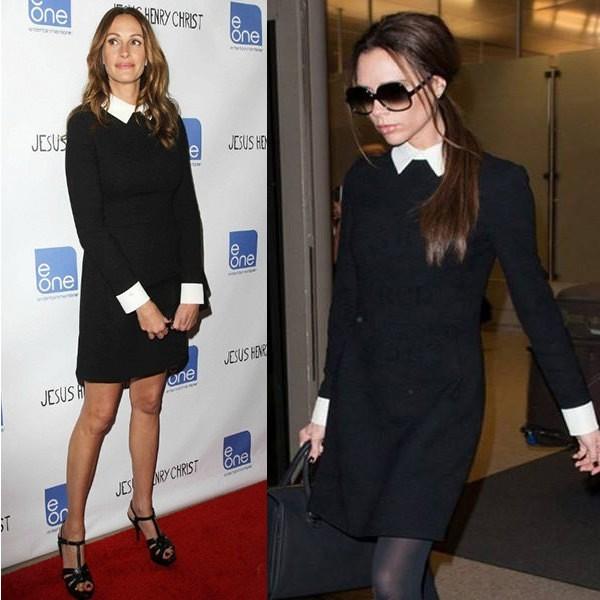Celebrity Victoria haljina s Petar Pan kragnom