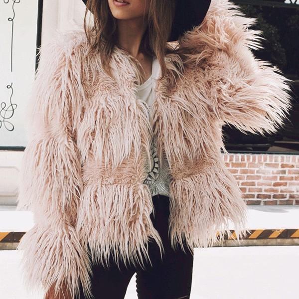 Mini čupava zimska bunda