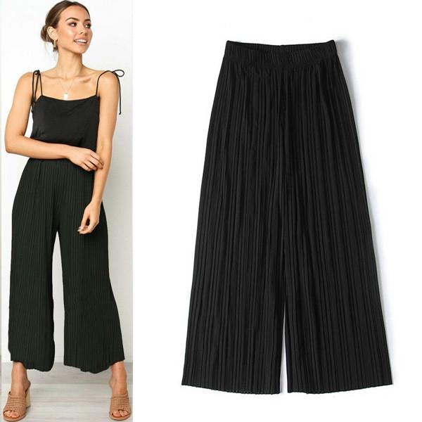 Capri plisirane hlače na gumu u 6 boja