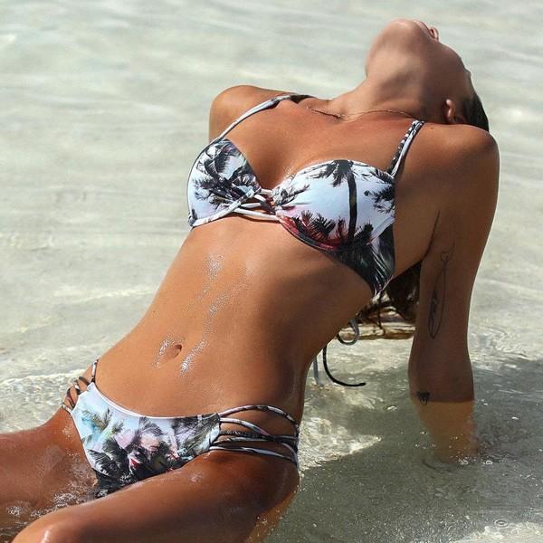 Push up kupaći kostim s palmama