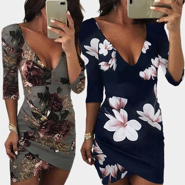 Mini haljina otvorenih leđa na cvjetove