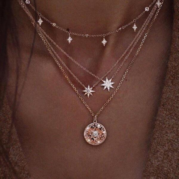 Mini zvijezda ogrlica od 4 lančića