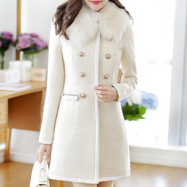 Elegantni zimski kaput s krznom