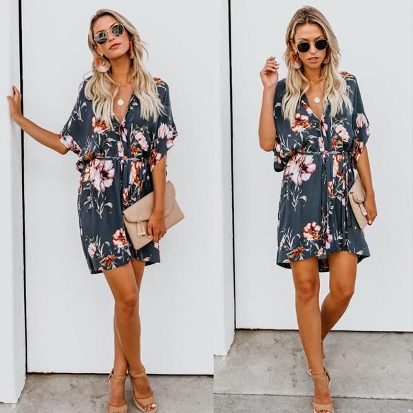 Mini casual haljina na cvjetove