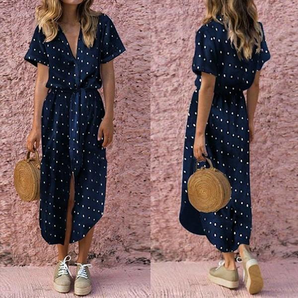 Casual haljina na točkice s remenom