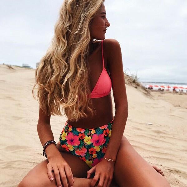 Dvodijelni cvjetni retro kupaći kostim s gaćicama povišenog struka *limitirana kolekcija*