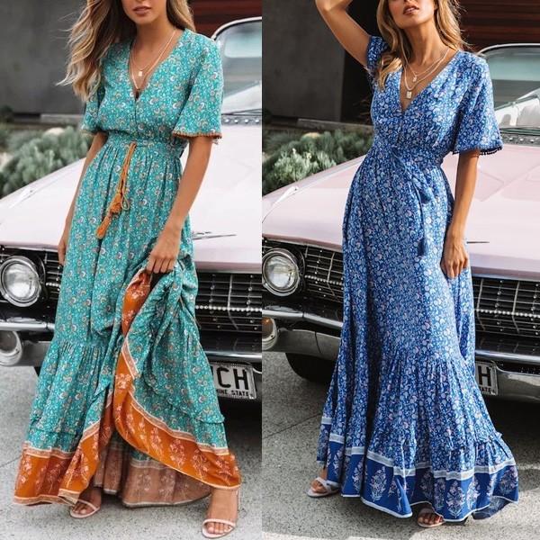 Duga boho cvjetna haljina *limitirana kolekcija*