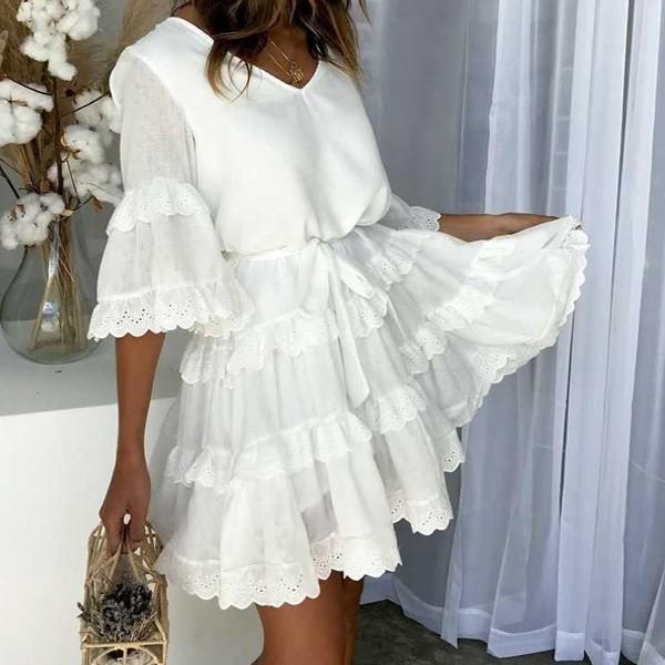 Mini vezena haljina na višestruke volane *limitirana kolekcija*