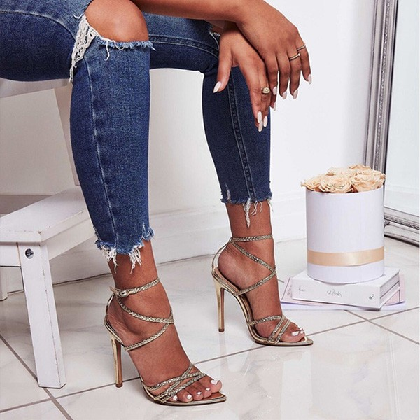 Gladijator sandale sa sitnim pletenim remenjem