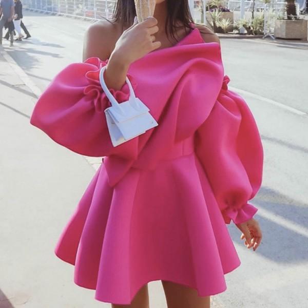 Svečana mini balon haljina otvorenih ramena