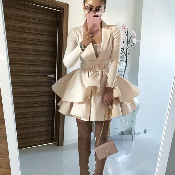 Mini blazer haljina na volane *limitirana kolkecija*