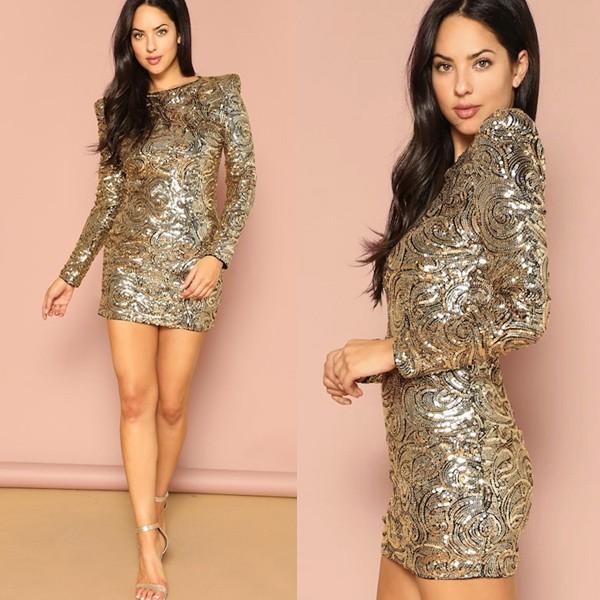 Mini haljina na šljokice puf ramena*limitirana kolekcija*