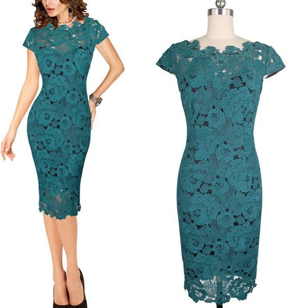 slike haljina od cipke Midi večernja haljina od krupne čipke | Šaptač cipelama slike haljina od cipke