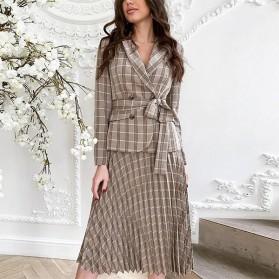 Karirani komplet suknja + blazer *Limitirana kolekcija*