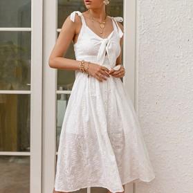Pamučna midi haljina s uvezom *Limitirana kolekcija*