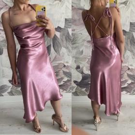 Asimetrična haljina od satena veziva na više načina 5 BOJA