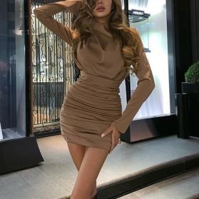 Mini nabrana party haljina dugih rukava 4 BOJE