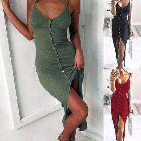 Casual asimetrična haljina s dugmadi