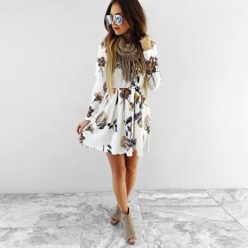 Mini cvjetna haljina dugih rukava