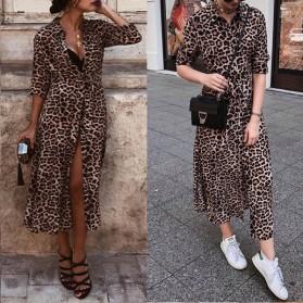 Košulja haljina leopard uzorka u dvije boje