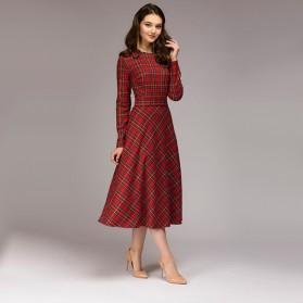 Karirana haljina zvono kroja 2 boje