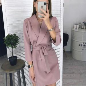 Mini preklopna blazer haljina 4 boje