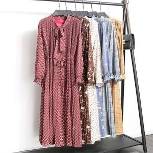 Vintage midi haljina s mašnom 15 modela